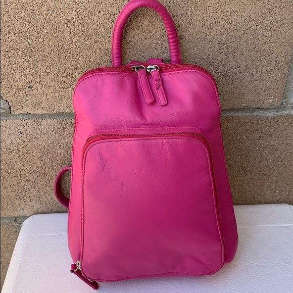 Osgoode Marle Handbags - Osgoode Marley Leather Dark Pink Mini Backpack